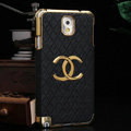 Chanel leather Case Hard Back Cover for Samsung GALAXY NoteIII 3 - Black
