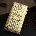 Chanel leather Case Hard Back Cover for Samsung GALAXY NoteIII 3 - Gold