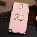 Chanel leather Case Hard Back Cover for Samsung GALAXY NoteIII 3 - Pink