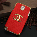 Chanel leather Case Hard Back Cover for Samsung GALAXY NoteIII 3 - Red