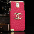 Chanel leather Case Hard Back Cover for Samsung GALAXY NoteIII 3 - Rose