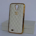 Chanel Hard Cover leather Cases Holster Skin for Samsung Galaxy S5 i9600 - Yellow