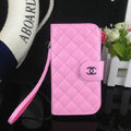 Chanel folder leather Case Book Flip Holster Cover for Samsung Galaxy S5 i9600 - Pink