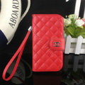 Chanel folder leather Case Book Flip Holster Cover for Samsung Galaxy S5 i9600 - Red