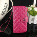 Chanel folder leather Case Book Flip Holster Cover for Samsung Galaxy S5 i9600 - Rose