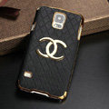 Chanel leather Case Hard Back Cover for Samsung Galaxy S5 i9600 - Black