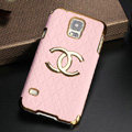 Chanel leather Case Hard Back Cover for Samsung Galaxy S5 i9600 - Pink