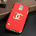 Chanel leather Case Hard Back Cover for Samsung Galaxy S5 i9600 - Red