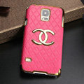 Chanel leather Case Hard Back Cover for Samsung Galaxy S5 i9600 - Rose