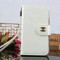 Classic Mirror Chanel folder leather Case Book Flip Holster Cover for Samsung Galaxy S5 i9600 - White