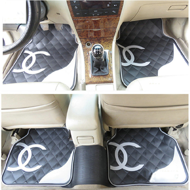 buy wholesale funky automobile chanel universal automotive carpet car floor mats sets rubber. Black Bedroom Furniture Sets. Home Design Ideas