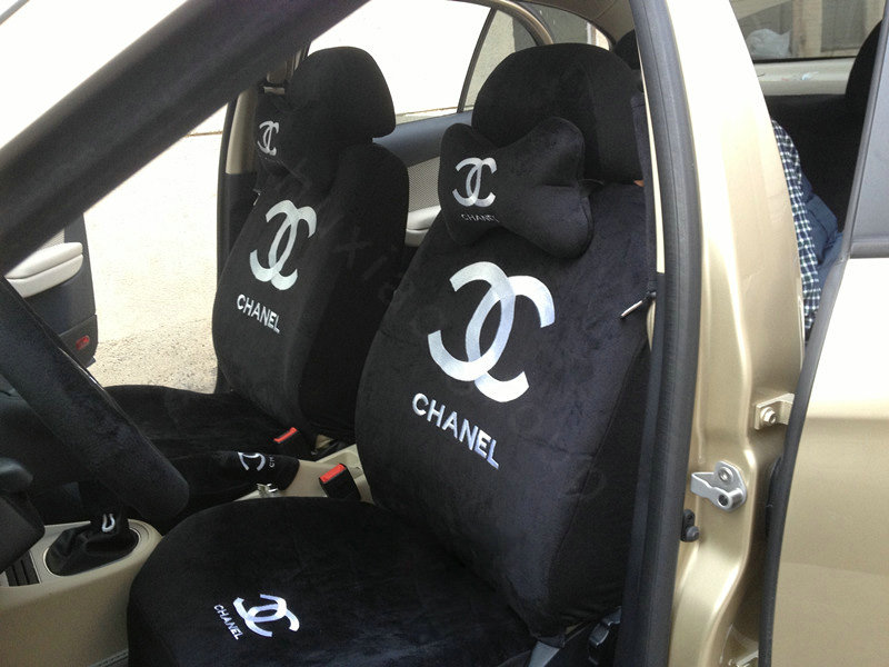 buy wholesale classic chanel universal plush velvet auto car seat cover 10pcs sets pink from. Black Bedroom Furniture Sets. Home Design Ideas