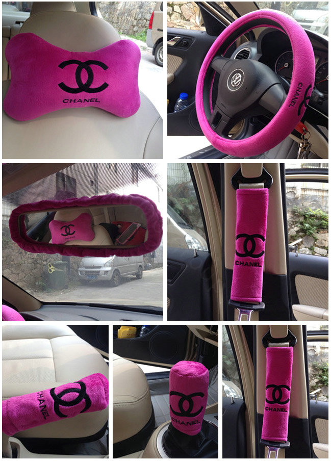 Buy Wholesale Funky Chanel Universal Plush Velvet Auto Car Seat Cover 18pcs Sets Pink From Chinese Wholesaler I Bay Cn