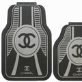 High Quality Auto Chanel Universal Automotive Carpet Car Floor Mats Sets Rubber 5pcs Sets - Black