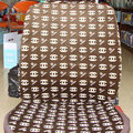 High Quality Chanel Universal Auto Car Seat Cover Sets Cotton Velvet 10pcs - Brown