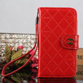 Luxury Mirror Chanel folder leather Case Book Flip Holster Cover for Samsung Galaxy S5 i9600 - Red