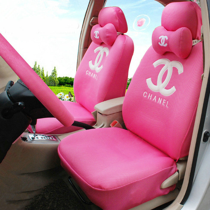 Pink And White Seat Covers For Cars