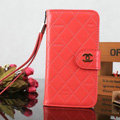 Pretty Mirror Chanel folder leather Case Book Flip Holster Cover for Samsung Galaxy S5 i9600 - Watermelon Red