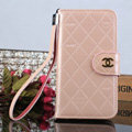 Unique Mirror Chanel folder leather Case Book Flip Holster Cover for Samsung Galaxy S5 i9600 - Pink