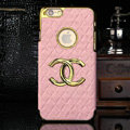 Chanel leather Cases Luxury Hard Back Covers Skin for iPhone 6 - Pink
