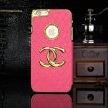 Chanel leather Cases Luxury Hard Back Covers Skin for iPhone 6 Plus - Rose