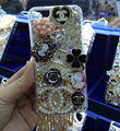 Bling Swarovski crystal cases Chanel Tassel diamond cover for iPhone 6S - White