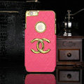 Chanel leather Cases Luxury Hard Back Covers Skin for iPhone 6S - Rose