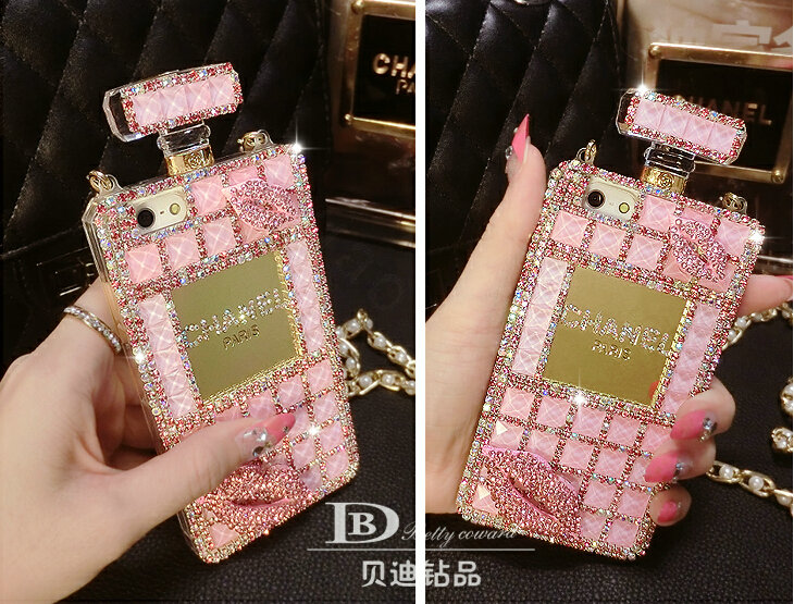 Buy Wholesale Classic Chanel Perfume Bottle Crystal Case Red lips ...