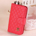 Chanel folder leather Cases Book Flip Holster Cover Skin for iPhone 7 - Red