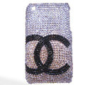 Chanel iPhone 7 case crystal diamond cover - white