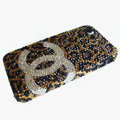 Chanel iPhone 7 case diamond leopard cover - brown
