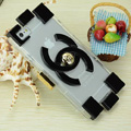Personalized Chanel TPU Soft Cases Building Block Covers Skin for iPhone 7 - Black