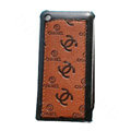 High Quality Chanel Vertical Flip Open Leather Case for Apple iPhone 3G / 3GS - Brown