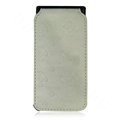 High Quality Chanel Vertical Flip Open Leather Case for Apple iPhone 3G / 3GS - White