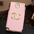 Chanel leather Case Hard Back Cover for Samsung Galaxy Note 4 N9100 - Pink