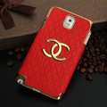 Chanel leather Case Hard Back Cover for Samsung Galaxy Note 4 N9100 - Red