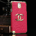 Chanel leather Case Hard Back Cover for Samsung Galaxy Note 4 N9100 - Rose
