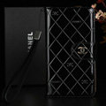 Best Mirror Chanel folder leather Case Book Flip Holster Cover for Samsung Galaxy NoteIII 3 - Black