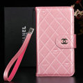 Best Mirror Chanel folder leather Case Book Flip Holster Cover for Samsung Galaxy NoteIII 3 - Pink