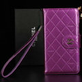 Best Mirror Chanel folder leather Case Book Flip Holster Cover for Samsung Galaxy NoteIII 3 - Purple
