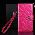 Best Mirror Chanel folder leather Case Book Flip Holster Cover for Samsung Galaxy NoteIII 3 - Rose