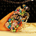 Classic Chanel Perfume Bottle Crystal Case Rhinestone Cover for iPhone 6 - White