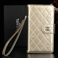 Classic Mirror Chanel folder leather Case Book Flip Holster Cover for Samsung Galaxy Note 4 N9100 - Champagne