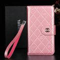 Classic Mirror Chanel folder leather Case Book Flip Holster Cover for Samsung Galaxy Note 4 N9100 - Pink
