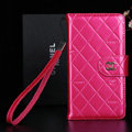 Classic Mirror Chanel folder leather Case Book Flip Holster Cover for Samsung Galaxy Note 4 N9100 - Rose