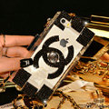 Personality Bling Chanel Crystal Case Diamond Cover for iPhone 6 - Black