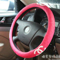 Classic Chanel Green Rubber Auto Car Steering Wheel Covers 15 inch 38CM - Rose