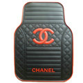Classic Chanel Universal Automotive Carpet Car Floor Mats Rubber 5pcs Sets - Red+Balck