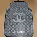 Furry High Quality Chanel Universal Automotive Carpet Car Floor Mats Rubber 5pcs Sets - Gray