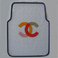 High Quality Chanel Universal Automotive Carpet Car Floor Mats Rubber 5pcs Sets - Clear